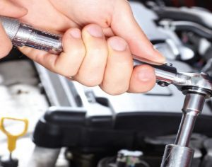 Photo Of A Mechanic Doing A Suspension Repair
