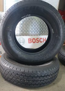 Image Of A Tyre Before It Was Serviced